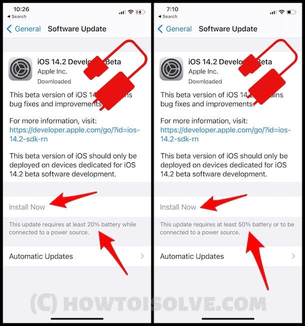 Install Now Greyed Out on iPhone after Download File