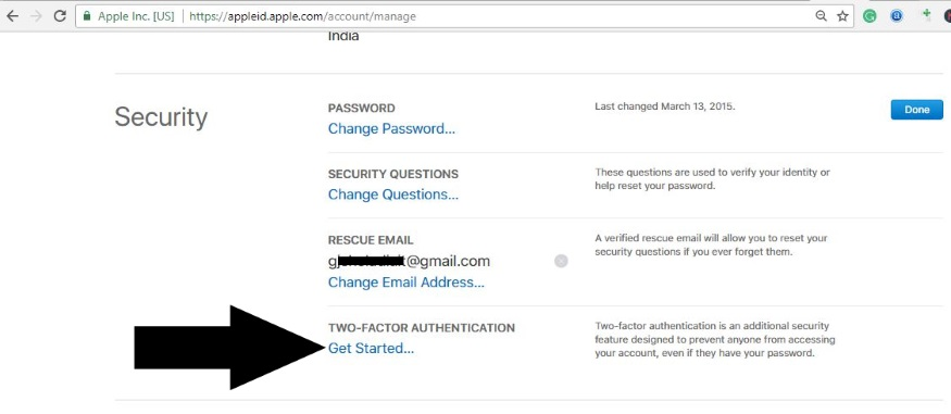 1 Turn on Two Factor Authontication for Apple ID