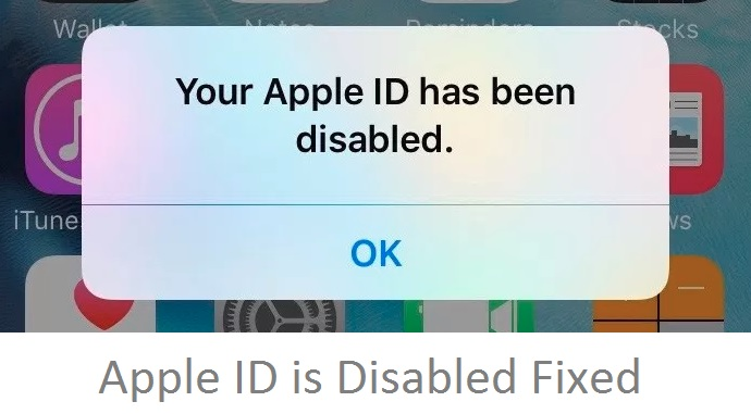 2 Apple ID has been Disabled on iPhone