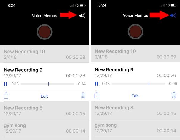 2 Voice Memo play on Speaker phone