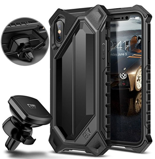 ELV iPhone 10 Case High Impact Resistant Rugged Armor Hybrid case for iPhone X