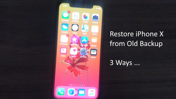 1 Restore iPhone X from old backup