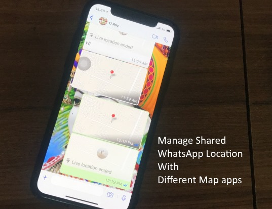 1 WhatsApp Shared Location open on Different map app