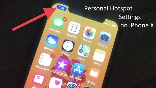 2 iPhone X Personal Hotspot settings