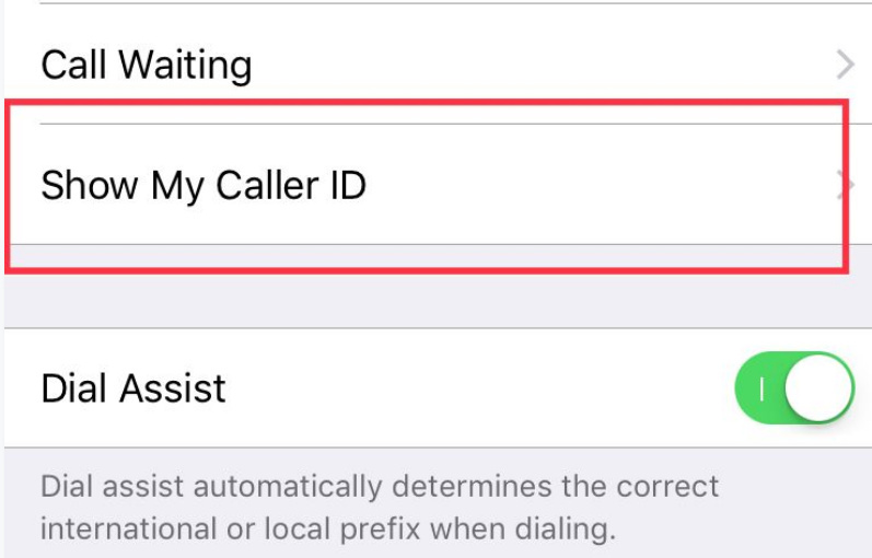 to make private call on iphone get setting for show my caller id on iPhone x iphone 8 plus iPhone 7 Plus