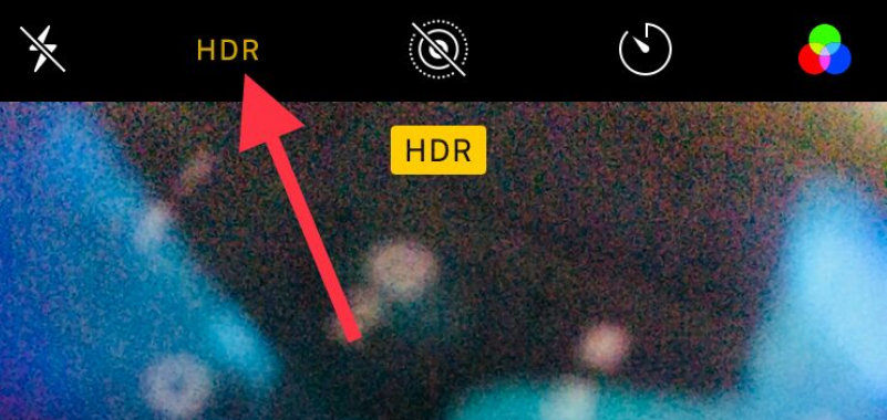 turn off burst mode on iPhone X iPhone 8 Plus using HDR Mode