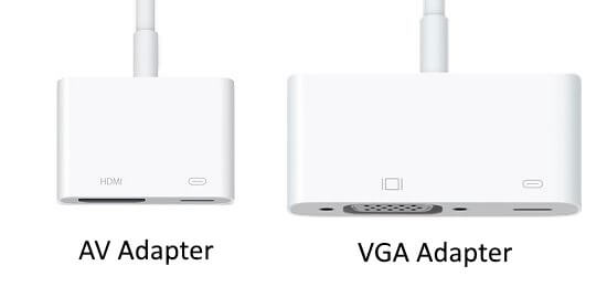 1 Adapter for iPhone to connect projector