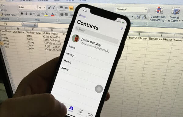 1 Export iPhone Contact in Excel file (1)
