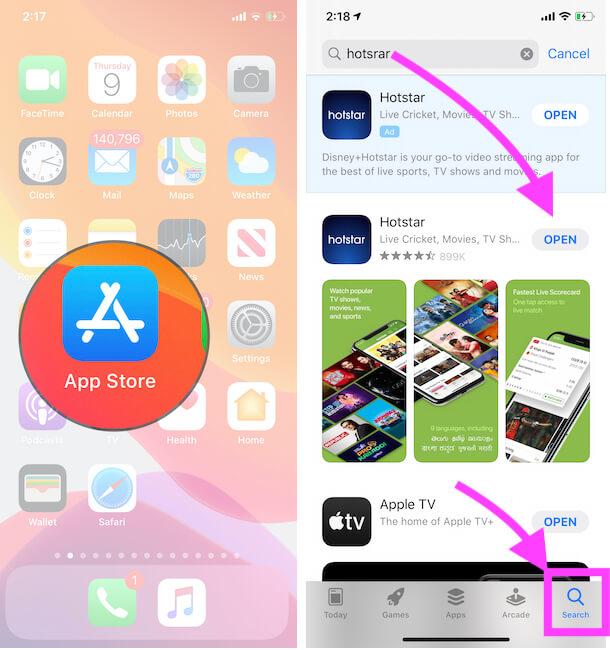 Update Hotstar App on iPhone and iPad