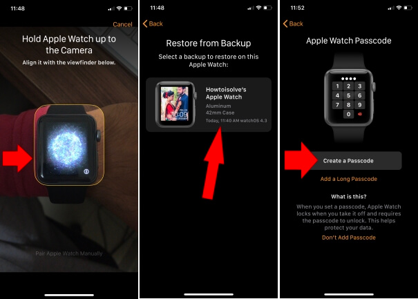 1 Reset and Create a new Passcode for apple wath using iPhone