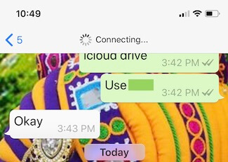 1 WhatsApp on iPhone Connecting issue (1)