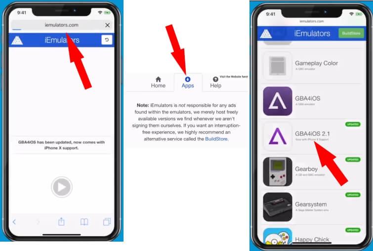 1 iEmulators install GBA4iOS on iPhone