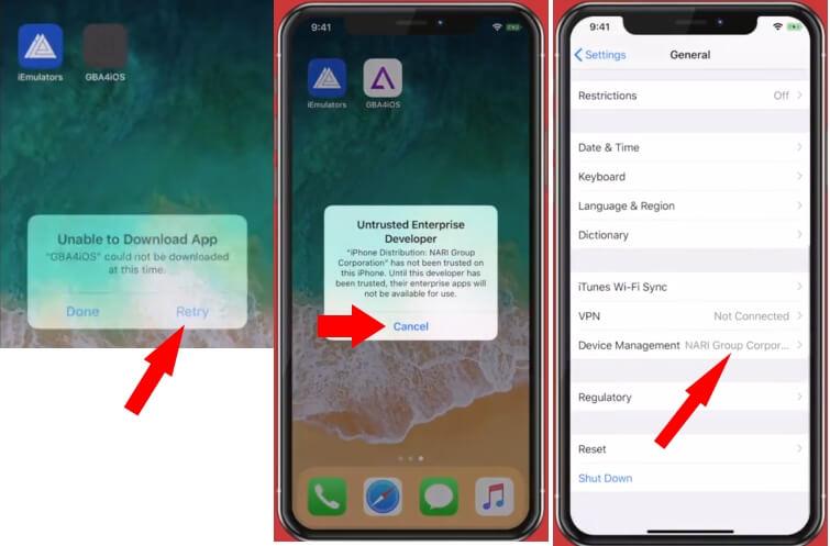 3 Trust GBA4iOS on iPhone