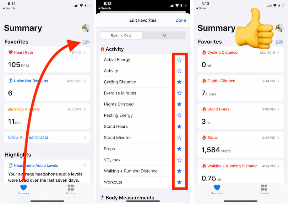 Check your Fitness Tracking on your iPhone Health App