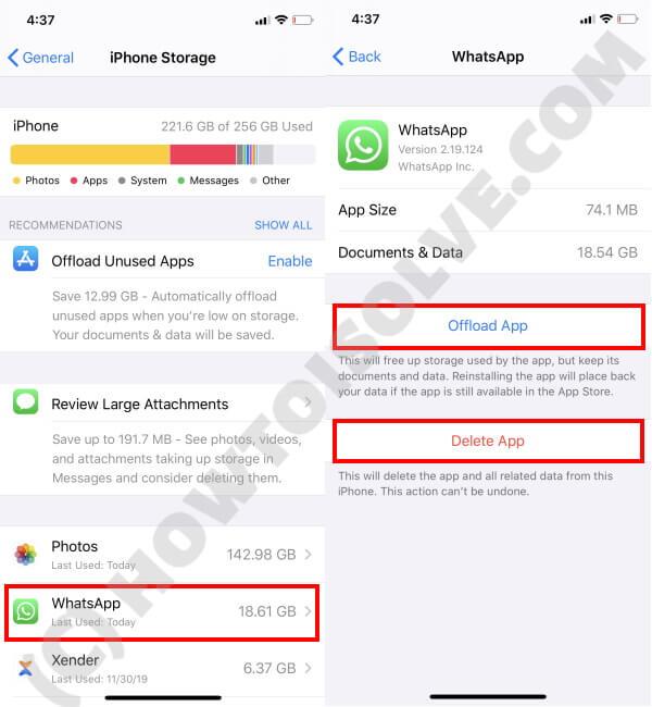 Delete or Offload App
