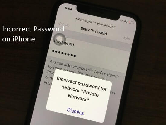 Fix incorrect password to connect WiFi on iPhone (1)