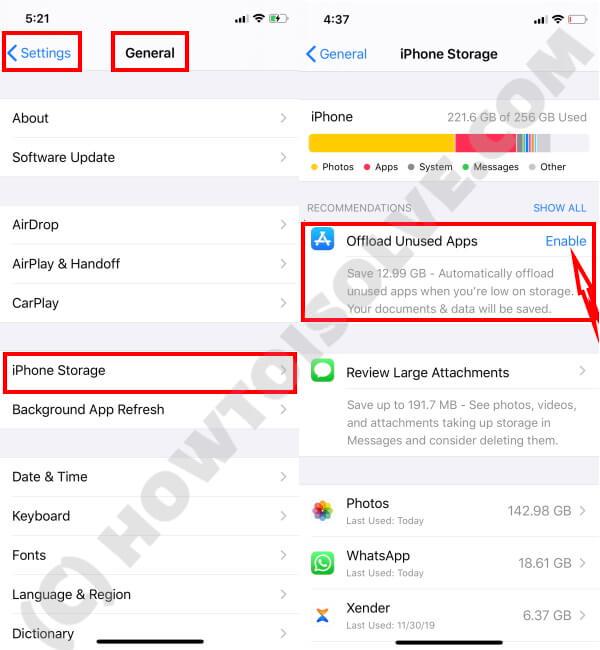 Offload Unused App on iPhone