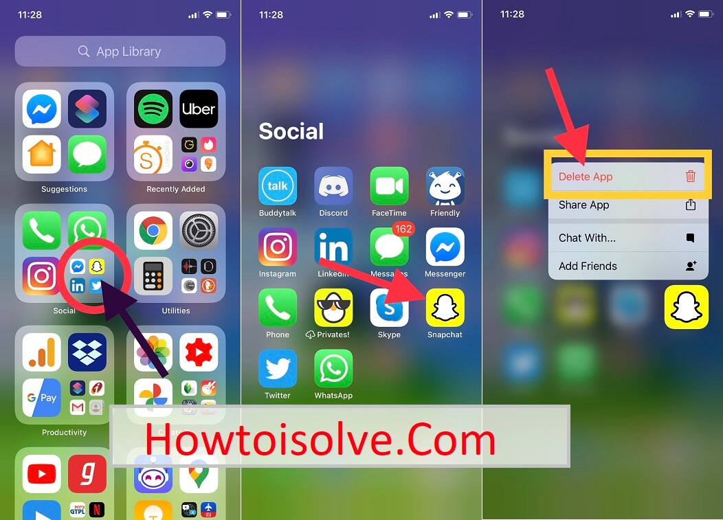 iOS 14 How to delete app on iPhone app library