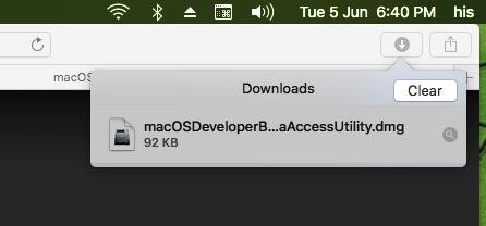 1 Download MacOS Mojave packag file on Mac