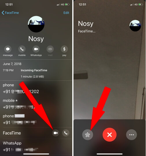 1 FaceTime Video call on iPhone in iOS 12