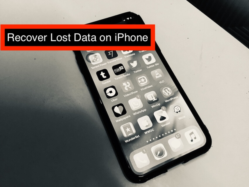 1 Recover Lost Data on iPhone after Update to iOS 12