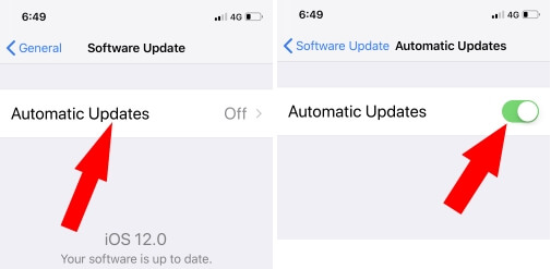 2 Enable Automatic Software Update on iPhone with iOS 12
