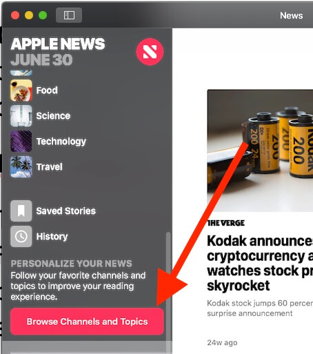 3 Browse New Channel and Tpoics on MacOS Mojave