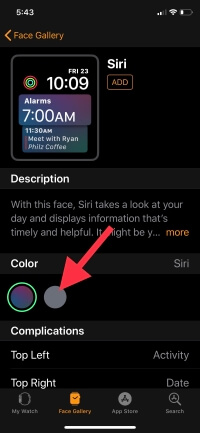 3 Customize Color on Apple watch Face in WatchOS 5