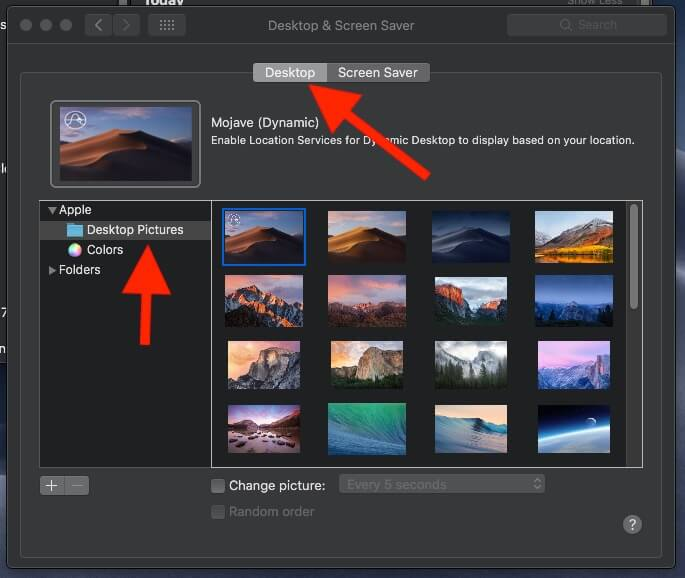 3 Dynamic Desktop on MacOS Mojave