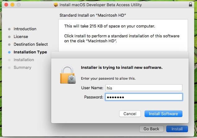 3 MacOS Developer Beta utility for MacOS Mojave