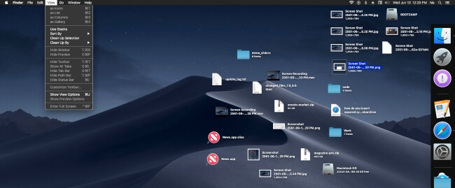 3 Steps for use Desktop stacks on MacOS mojave
