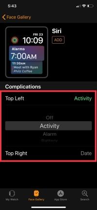 4 Change Complications on Apple Watch in WatchOS 5