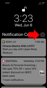 4 Clear all or Remove all Grouped notifications in iOS 12 on iPhone and iPad