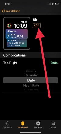 5 Add New Face on Apple Watch From iPhone