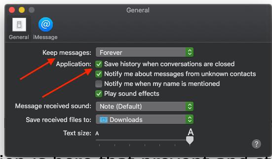 5 Save Message History on MacOS Mojave