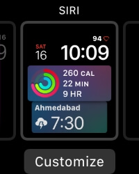 6 Customize Siri Face on Apple Watch