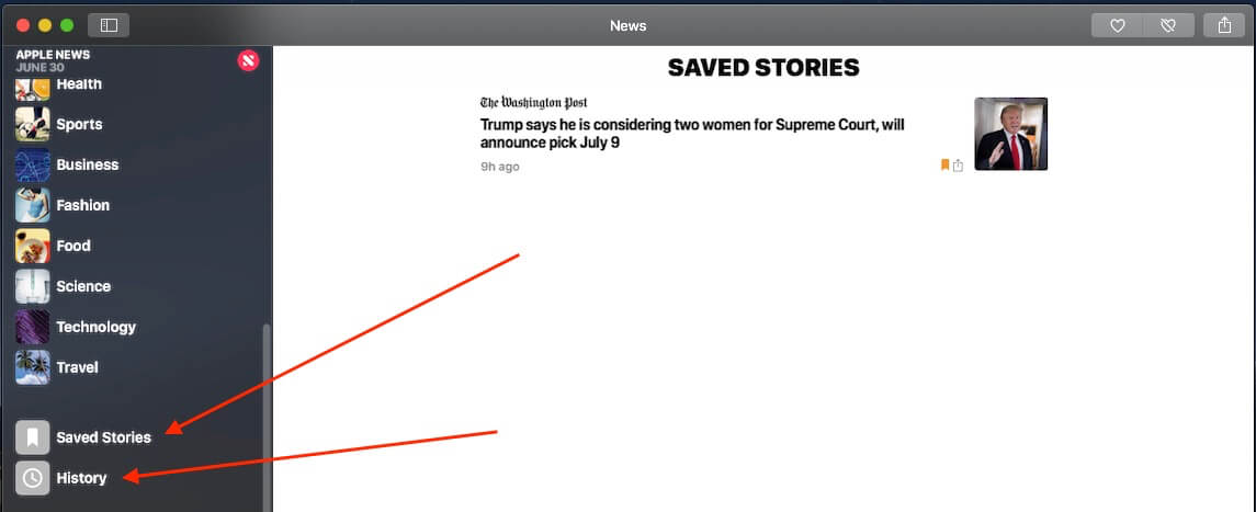 7 Export Saved Stories and History on Mac