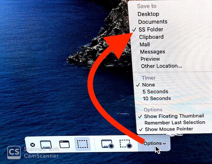 Change Screenshot and Recording Save location on Mac