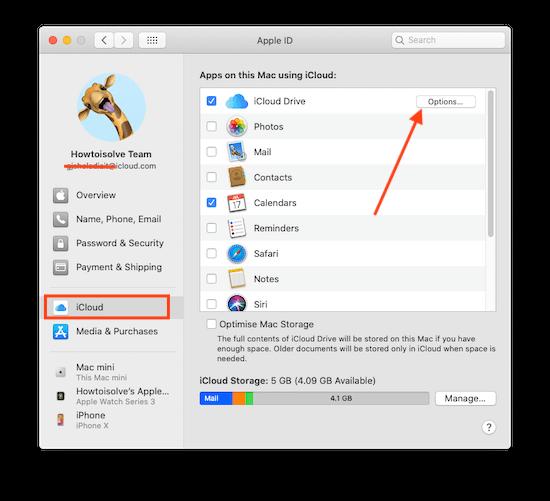 Cloud Drive settings on Mac