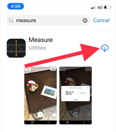Downlaod install Measure App on iPhone iPad iOS 12