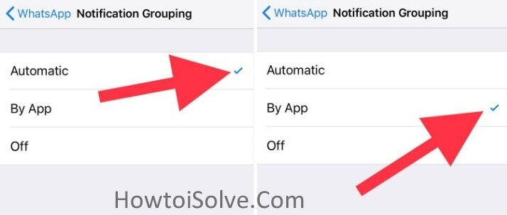 Enable Notification by App in iOS 12 on iPhone X iPhone 8 Plus