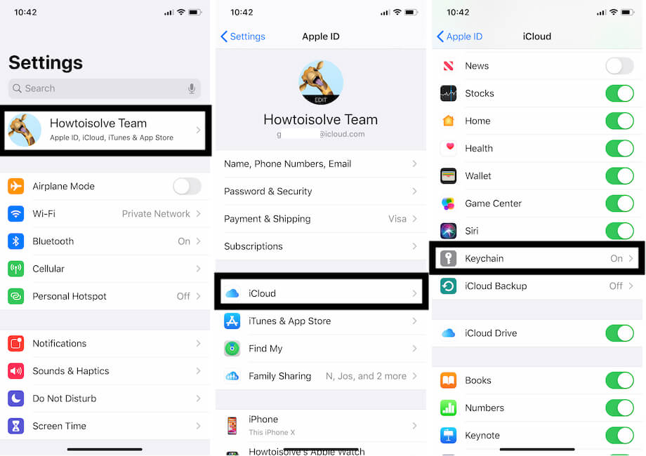 Enable iCloud Keychain on iPhone and iPad for autofill login password on safari