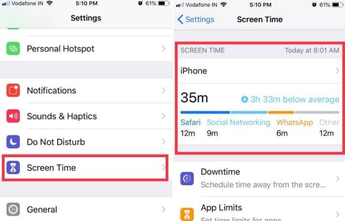 Turn on and use Screen Time in iOS 12 on iPhone ipad