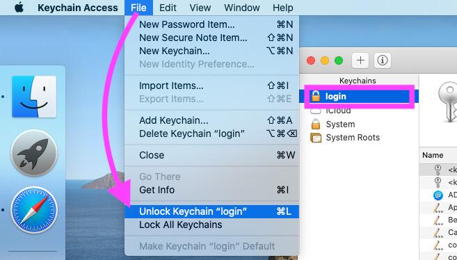 Unlock Keychain login on Mac