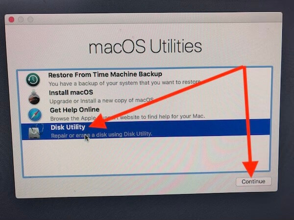 2 Disk Utility for reinstall MacOS Mojave