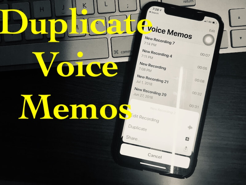 2 Duplicate Voice Memos on iPhone and Mac