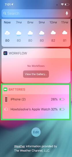2 Enable Battery Widget on iPhone