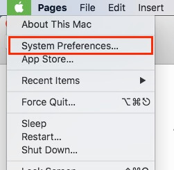 2 System Preferences on Mac