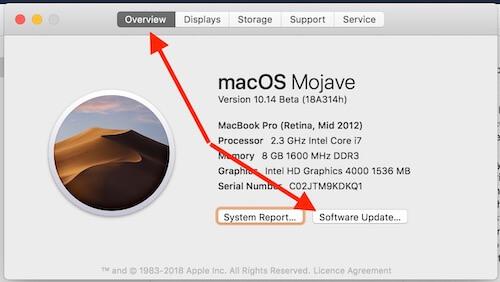 5 Software Update on Mac