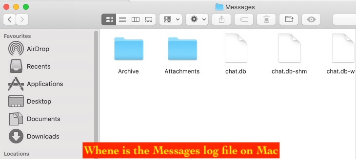 6 Check Where is Messages log file on Mac